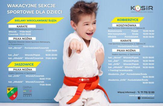 Wakacyjne sekcje sportowe KOSiR dla dzieci