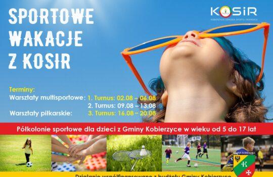 Sportowe wakacje z KOSiR- półkolonie sportowe 2021